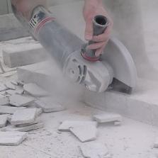 diamantzaag voor haakse slijpers beton