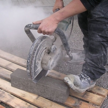 diamantzaag voor elektrische doorslijpers beton